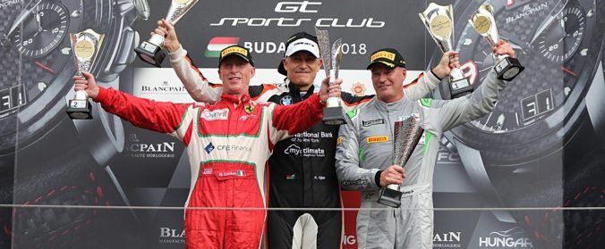 Karim Ojjeh on the main race podium - Budapest